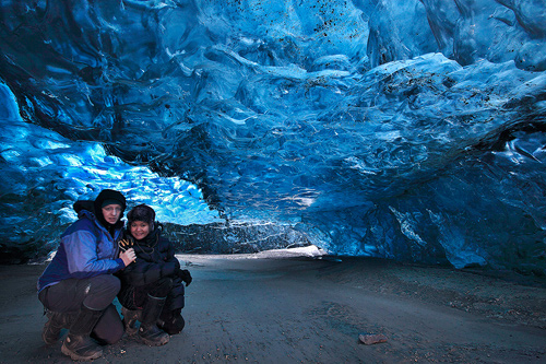 Örvar & Mai inside the cave