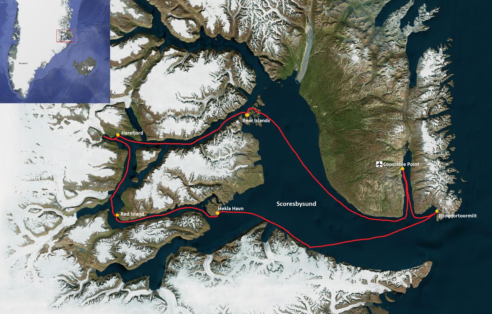 Scoresbysund map
