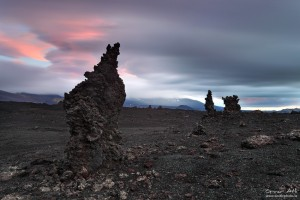 Lava cones at Heklusandar.