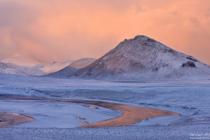 Soft light in Landmannalaugar in Winter