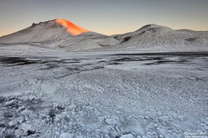 First Morning Light, Landmannalaugar in Winter