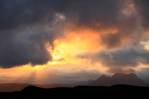 Sudden burst of sun near Reynisdrangar.