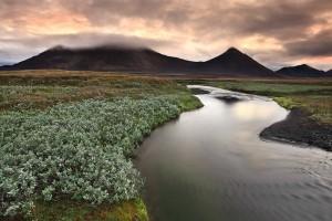 Highland Sunset at Mörðurvellir, Iceland.