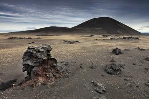 Rounded Hill in desert landscape en-route to Askja, Iceland