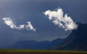 Backlit Clouds at Þorgeirfellshyrna.