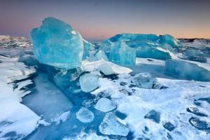 Ice block chaos on Jökulsárlón.