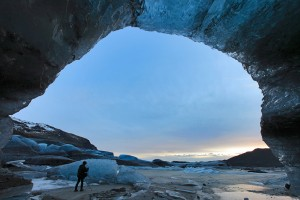 Ice cave entrance.