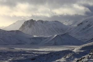 Snow Showers over Landmannalaugar.