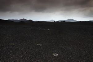Black lava sand desert en-route to Landmannalaugar.