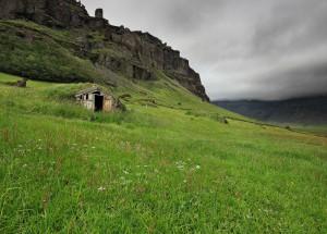 Old farmhouse at Núpstaður.