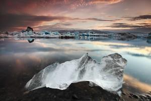 Iceberg at Jökulsárlón.