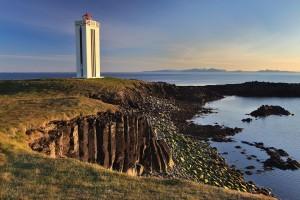 Basalt Column Lighthouse at Kálfhamravík.