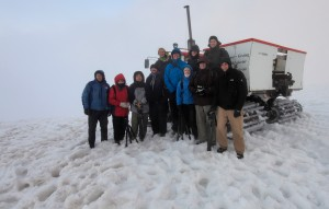 Tour 1 at the top of Snæfellsjökull glacier.