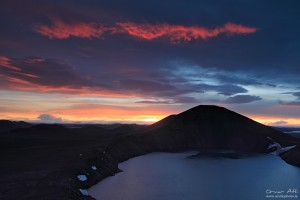 Sunrise at Bláhylur near Landmannalaugar.