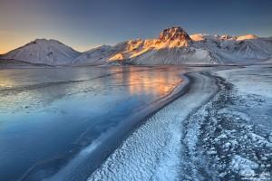 First Morning Light, Landmannalaugar in Winter