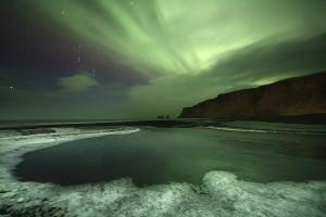 Frosty Aurora - Vík, Iceland