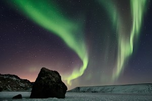 Solar Wind at Kleifarvatn, Iceland